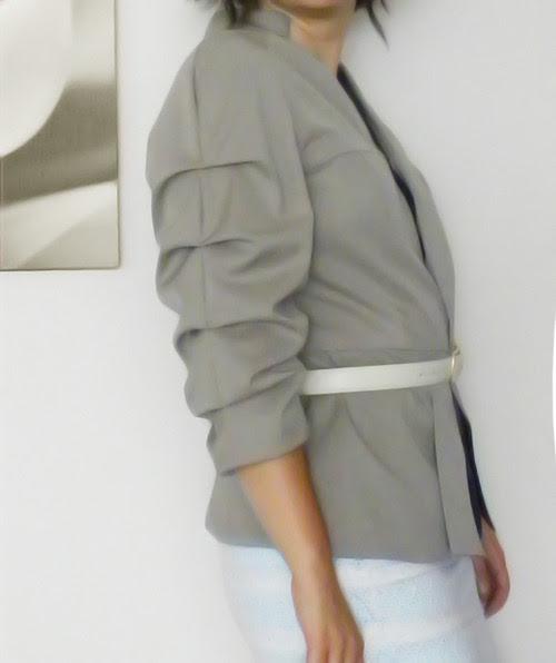 Peplum Ceket tasarımcı moda tasarım design kahve astar dikiş blog kendin dik dikiş blogları