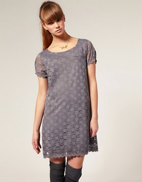 Image 1 ofKookai Short Sleeved Lace Mini Dress
