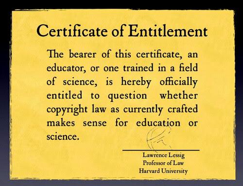 Lawrence Lessig, Educause Keynote 2009 http://www.darcynorman.net/2009/11/10/lawrence-lessigs-educause-keynote/