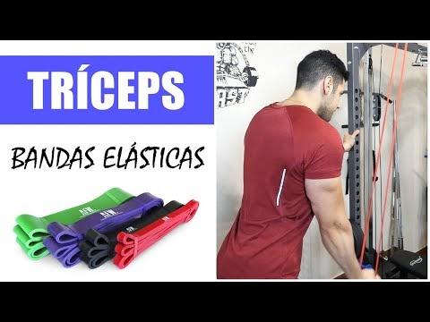 8 ejercicios de tríceps con bandas elásticas