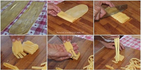 tagliare le tagliatelle - cutting noodles