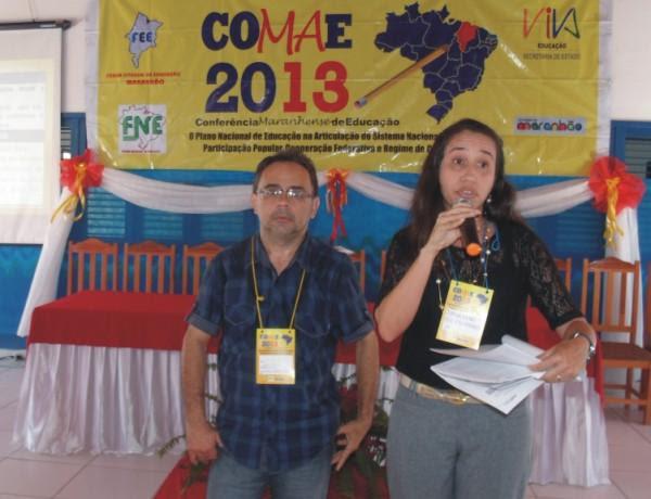 professor Santa Cruz (Santana do Maranhão) e Jaqueline Carneiro, secretária de educação de Araioses  defenderam alterações das propostas do Eixo VI.