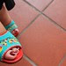 Peranakan beaded shoe