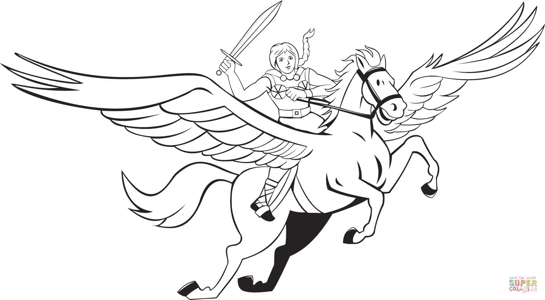 Klick das Bild Walküre reitet Pegasus