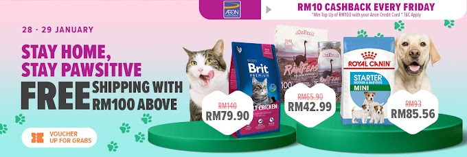 Stay Home, Stay Paw-sitive in Lazada.