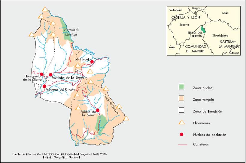 Resultado de imagen de hayedo de montejo mapa