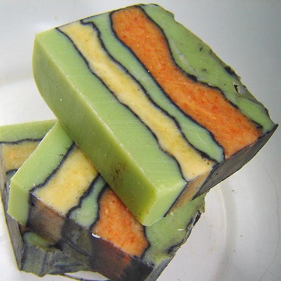 CITRUS SAGE -Lemon, Lime, Orange, Sage handmade Cold Process Handmade Vegan Soap- Earthy Fresh artisan bar soaps PEYOTE