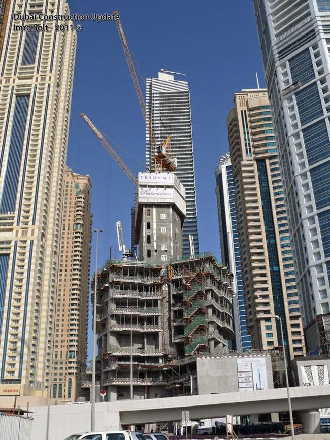 #9 Pentominium — Dubai. Height (when completed): 1,692.91 feet (construction is currently on hold)