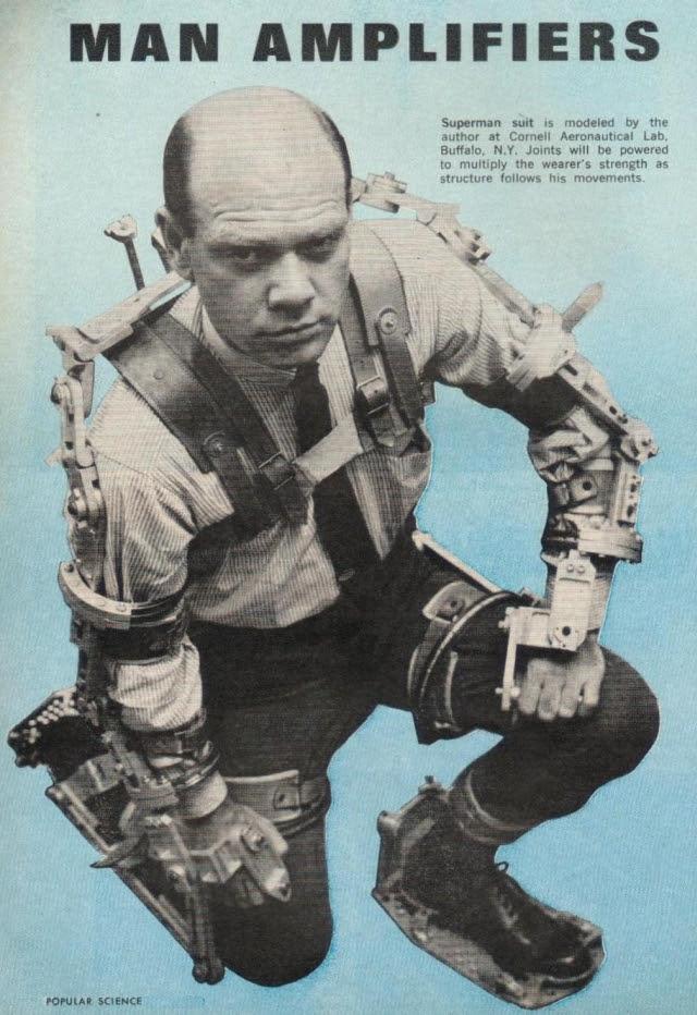 Exoskeleton p2 x640 1961 2   Cornell Aeronautical Labs Man Amplifier   Neil Mizen (American)