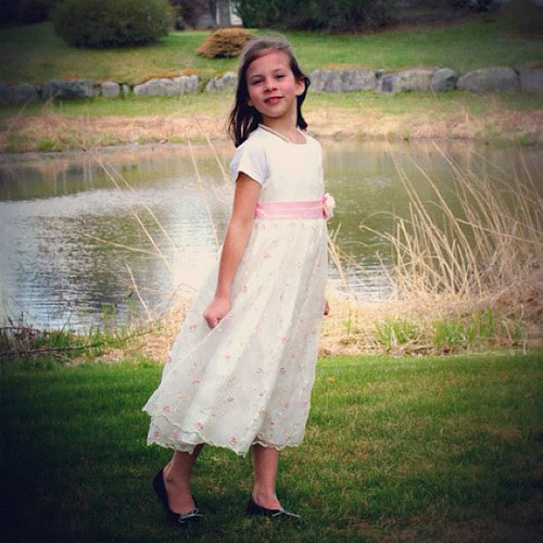 Her 8th birthday was on Easter. When I pointed the camera at her, this is what she did. Her vision: poise and grace. She is my teacher.