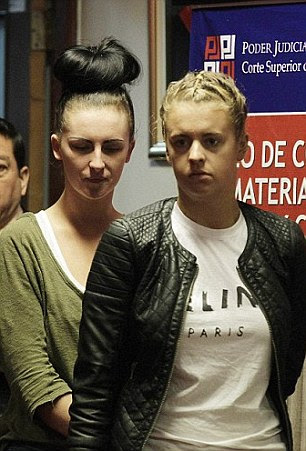 The pair - nicknamed the 'Peru Two' - were jailed for six years and eight months after admitting the offence