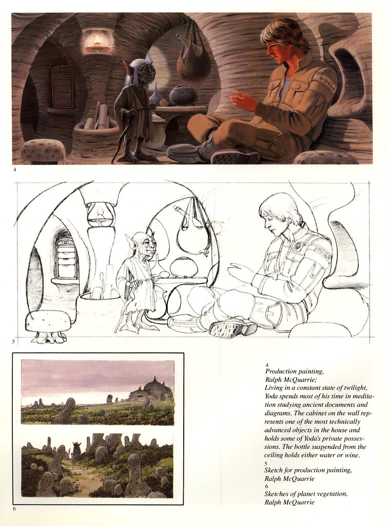 Ralph Mcquarrie - Dagobah Production Painting (Empire Strikes Back)