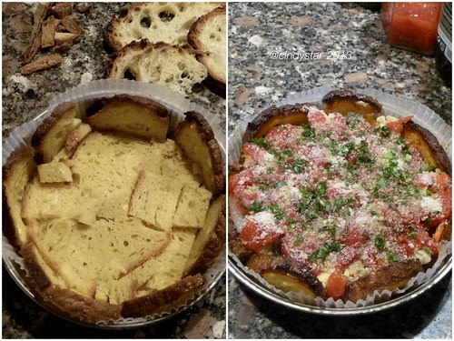 preparando la torta di pane matera
