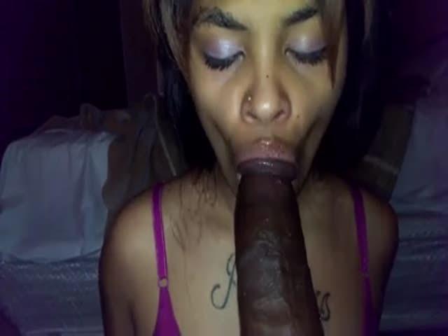 white girl big lips blowjob