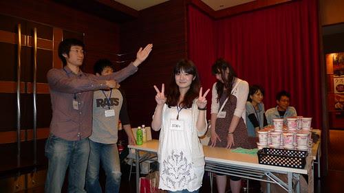 Maiko and Yamamoto posing