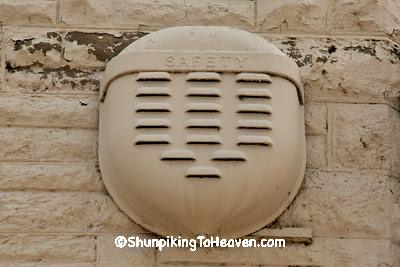 Burglar Alarm, Former Farmers Savings Bank Building, Iowa County, Wisconsin