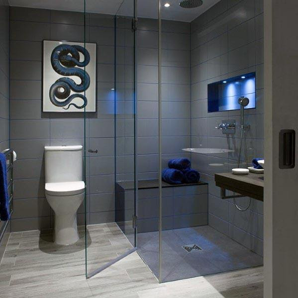 Top 60 Best Grey Bathroom Ideas - Interior Design Inspiration