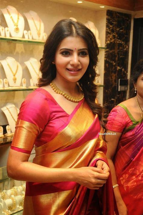 Samantha Ruth Prabhu in Saree At JC Brothers Shopping Mall