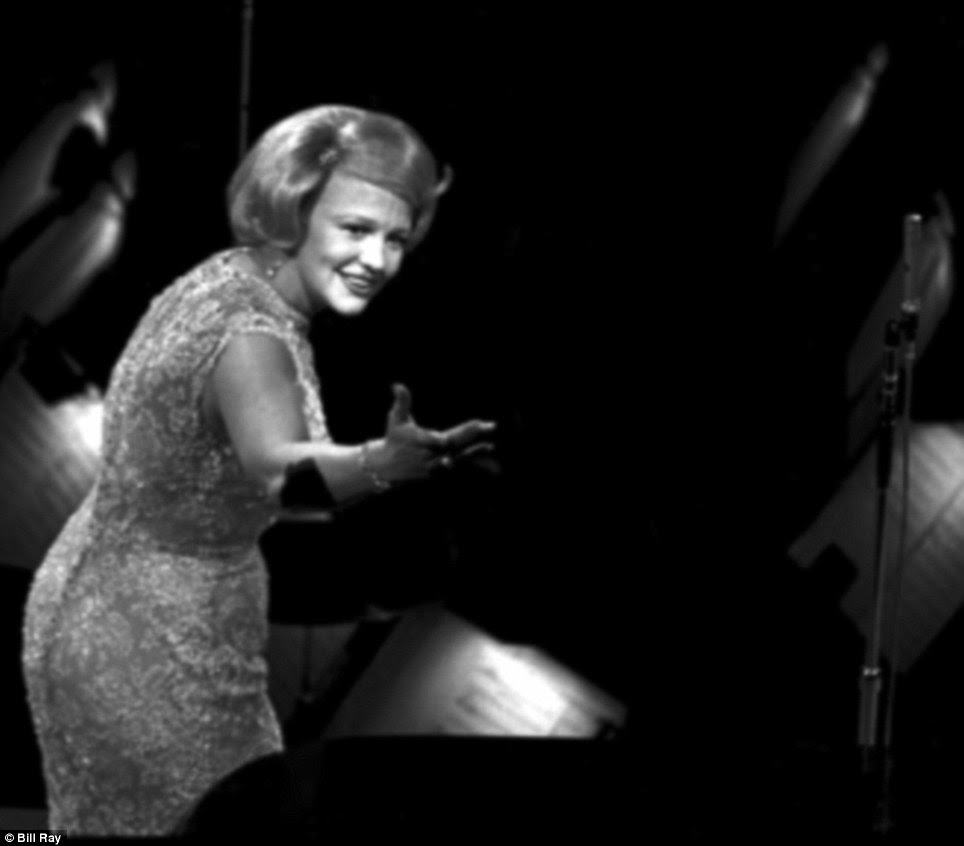Singer Peggy Lee on stage at Madison Square Garden during a 'Birthday Salute' in honor of President Kennedy, New York, May 19, 1962