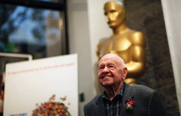 Mickey Rooney at a screening of It's a Mad, Mad, Mad, Mad World in 2012.