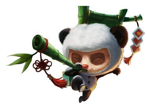 panda teemo skin png image purepng  transparent