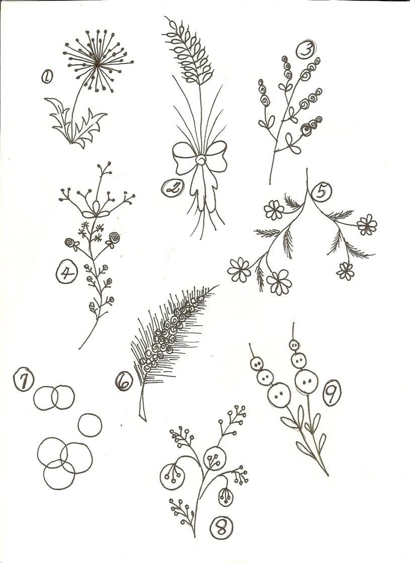 Basic Flower Simple Sketch Clip Art Library