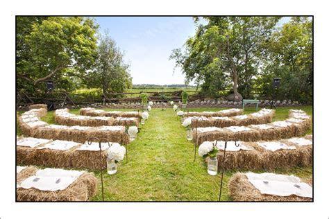 Hay Bale Seating Ceremony   wedding   Pinterest