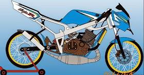 Sketsa Motor Fu