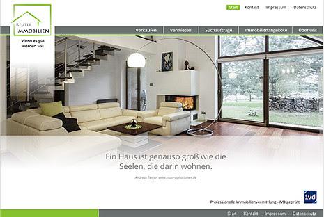 Webdesign-Agentur designbetrieb aus Essen entwickelt und launcht   www.reuter-immobilien.info