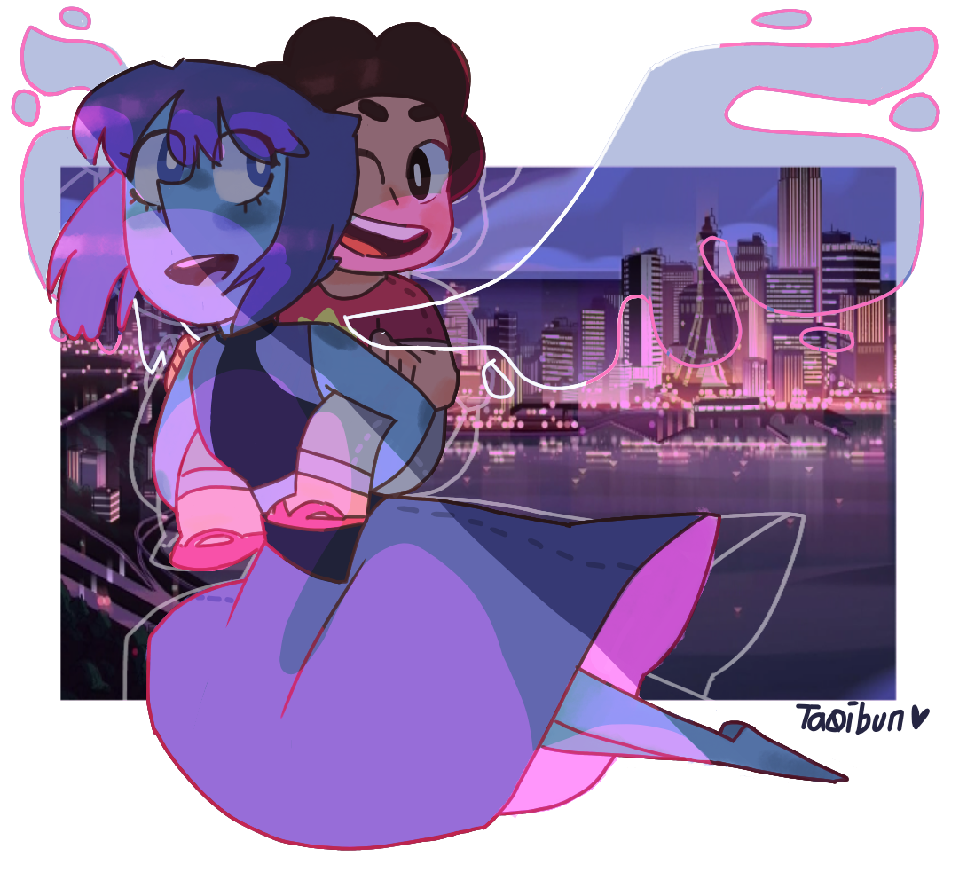 """""""Same old world"""" [[MORE]] ((Background belongs to SU. Its obvious i cant draw cool bg's))"""