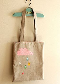 Cloudy Day Applique Tote Tutorial