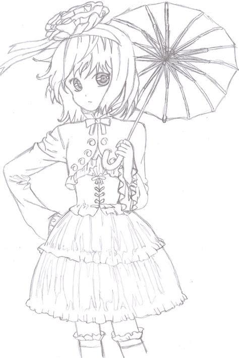 anime girl dress drawing  getdrawingscom