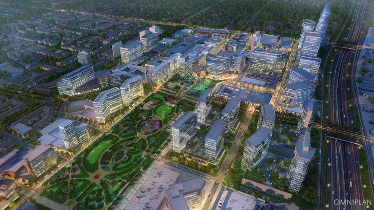 The conceptual vision of the proposed 20-acre Dallas Midtown project by MIG will be discussed at a town hall meeting next week.