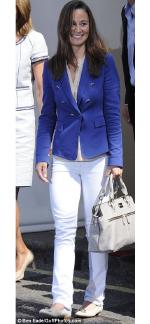 Pippa Middleton carrying white Modalu Bristol Handbag