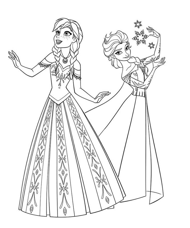 Coloring Pages For Kids Elsa At Getdrawingscom Free For Personal