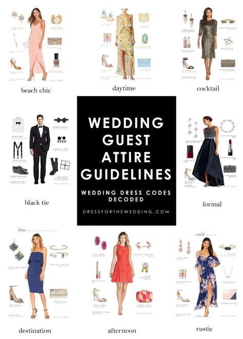 wedding guest attire guidelines wedding dress codes