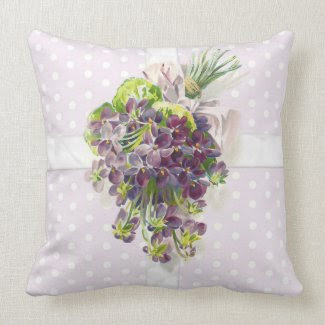 Lilac Forget me Nots Pillow