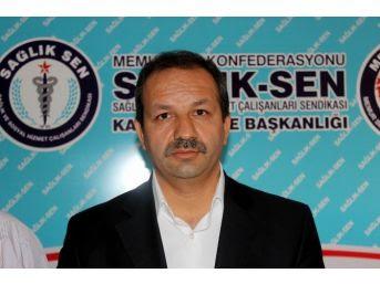 Sağlık-Sen Kayseri Şube Başkanı Mahmut Faruk Doğan,