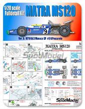 Kit 1/20 Model Factory Hiro - Matra MS120 ELF - Nº 9 - H. Pescarolo - Gran Premio de Monaco 1970 - kit Multimedia
