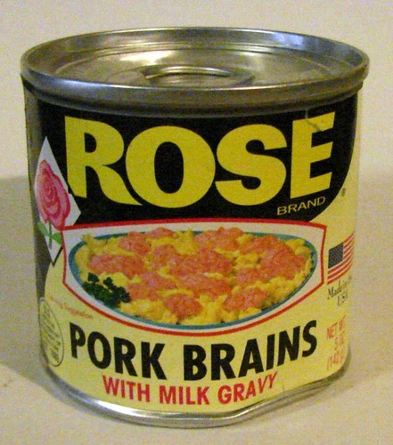 Dave's Cupboard: Canned Pork Brains in Milk Gravy