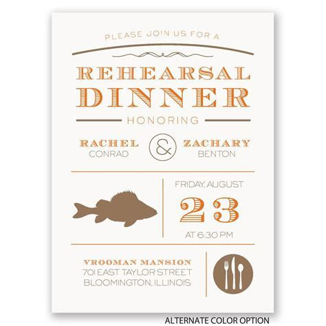 Chef's Choice Fish Petite Rehearsal Dinner Invitation