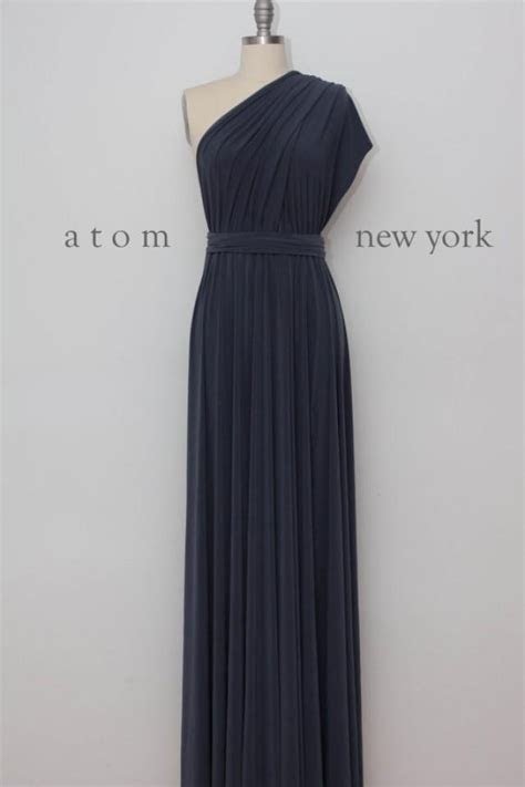 Charcoal Gray Floor Length Ball Gown Long Maxi Infinity