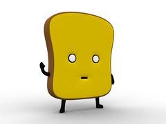 3D Mr Toast rendering