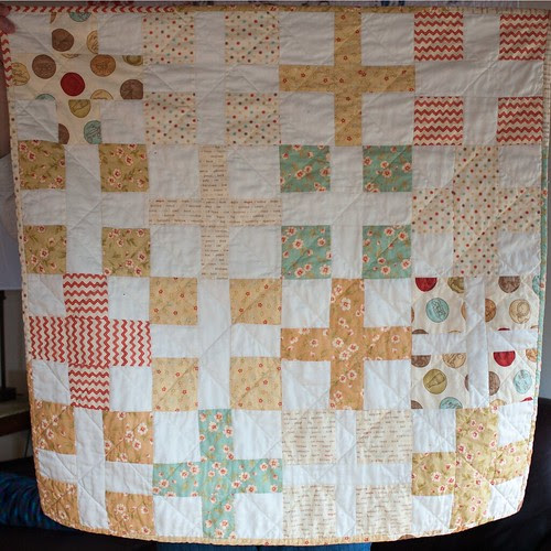 Simple Math baby quilt