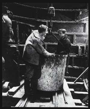 Interior of one of the lift shafts during construction