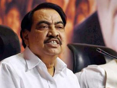 File image of BJP leader Eknath Khadse. PTI