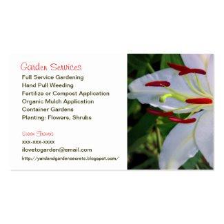 Gardener Services Business Card