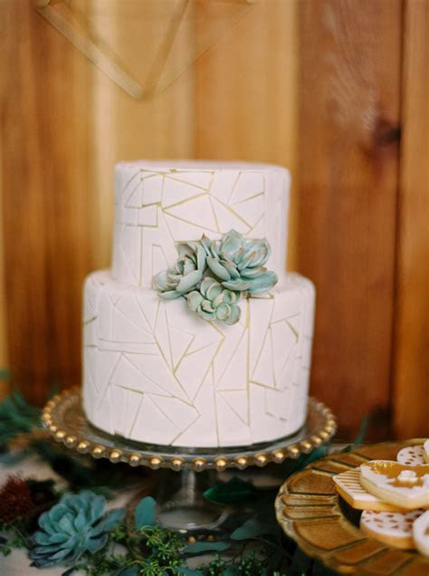 geometric succulent cake   Wedding & Party Ideas   100