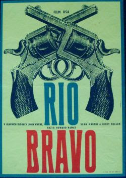 Rio Bravo Czech movie poster (1966-1959)