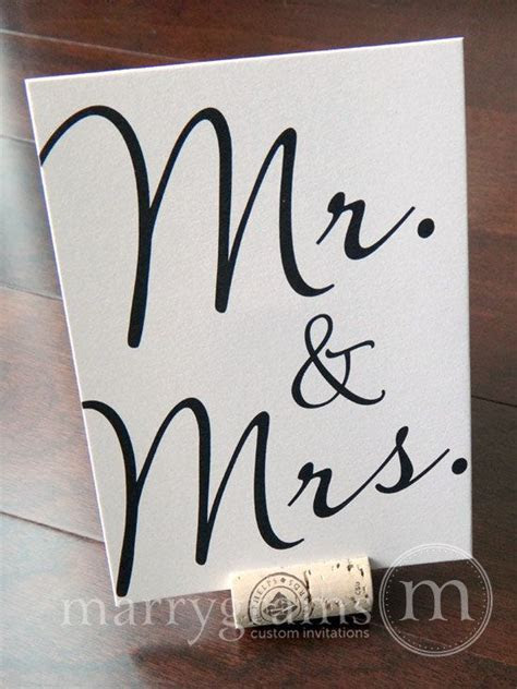 Mr. & Mrs. Sweetheart Table Sign   Fancy Table Signs
